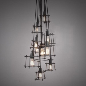 Lampada design in ferro per illuminare la cucina