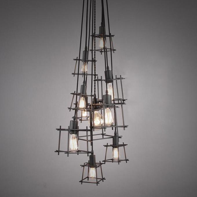 Lampada design in ferro per illuminare la cucina lampade for Lampade designer