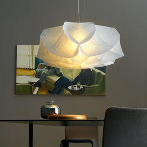 Lampade design in vetro e tessuto